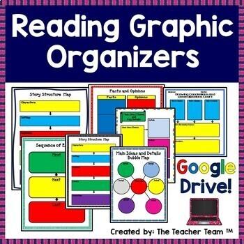 Reading Comprehension Graphic Organizer Interactive Notebook Google Activities