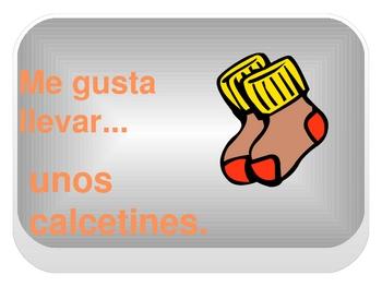 Interactive Digital Spanish Flashcards: Clothing