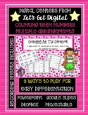 Interactive Digital Task Card Center - Counting Teens in M