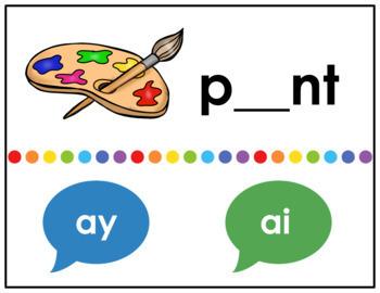 Interactive, Digital and Paperless Long A E I O U/Vowel Teams Game