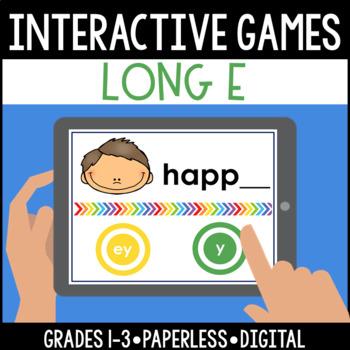 Interactive, Digital and Paperless Long E Vowel Teams Games: ea ee ie y ey
