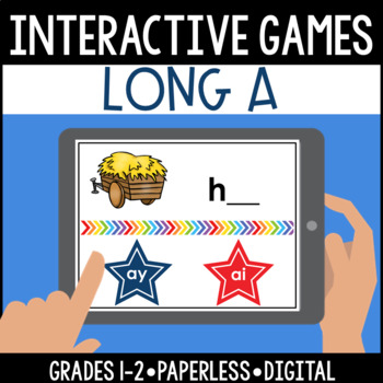 Interactive, Digital and Paperless Long A Vowel Teams Game: ai ay