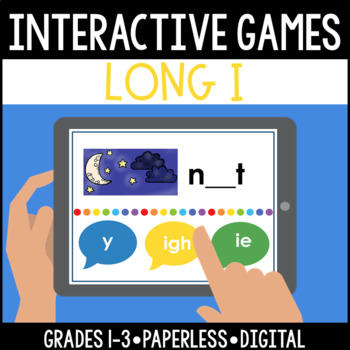 Interactive, Digital and Paperless Long I Vowel Teams Game: y igh ie