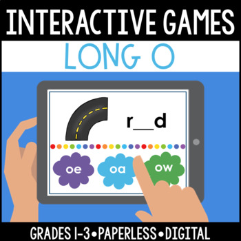 Interactive, Digital and Paperless Long O Vowel Teams Game: oe oa ow