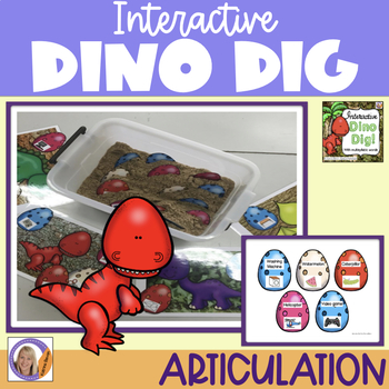 Interactive Dino Dig for multisyllabic words in speech and language therapy