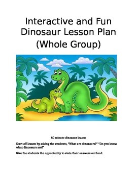 Interactive Dinosaur Lesson (60 minute Whole Group)