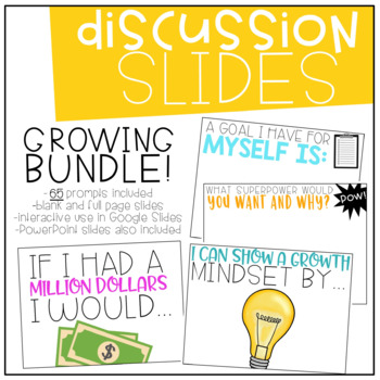 Interactive Discussion Slides | Starters | Stems Writing Prompts