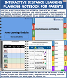 Interactive Distance Learning Planning Notebook for Parent