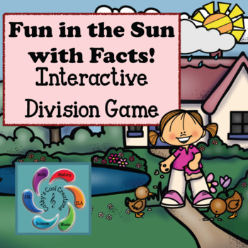 Interactive Division Games Google Slides-Fun in the Sun distance learning