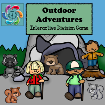 Interactive Division Games for Google Slides/Adobe Reader-Outdoor Adventures