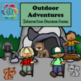 Interactive Division Games for Google Slides/Adobe Reader-Outdoor Adventures