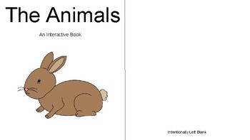 Interactive Dolch Book-Animals