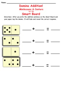 Interactive Domino Addition & Subtraction for the Smart Board