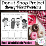 Interactive Donut Shop Project with Contextual Word Problems for 2nd Grade