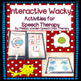 Interactive Wacky Activities for Speech Therapy (Dr. Seuss Inspired)