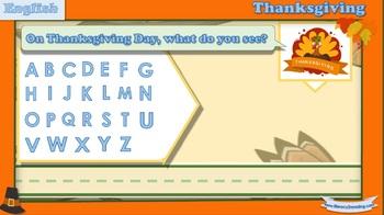Interactive Dual-Language literacy activity: Thanksgiving