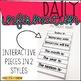 Interactive Early Elementary Calendar Kit