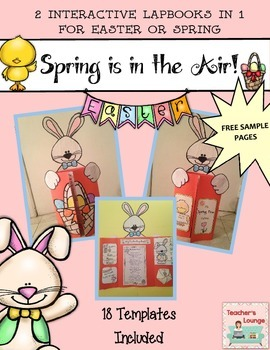 Interactive Easter and Spring Craft - Lap Book Writing Activity FREEBIE