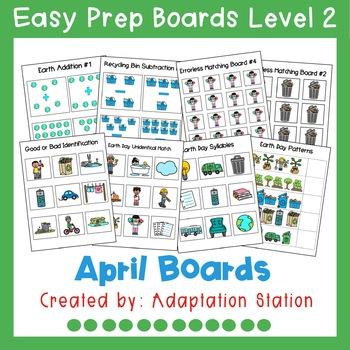 Interactive Easy Prep Boards Level 2: April Set