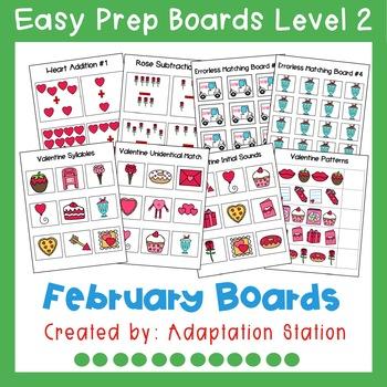 Interactive Easy Prep Boards Level 2: February Set