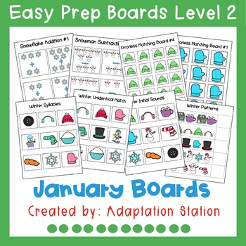 Interactive Easy Prep Boards Level 2: January Set