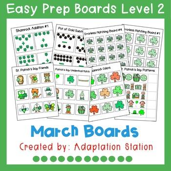 Interactive Easy Prep Boards Level 2: March Set