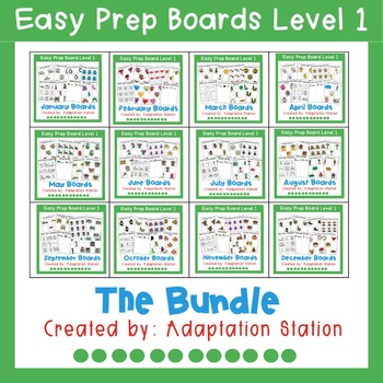 Interactive Easy Prep Boards for the Year!