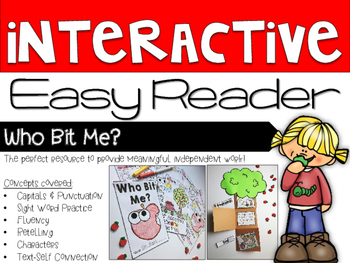Interactive Easy Reader - Who Bit Me? Apple Theme