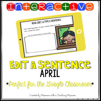 Interactive Edit a Sentence April