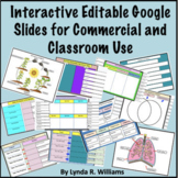 Interactive Editable Google Slides for Commercial and Clas