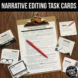 Narrative Editing Checklist & Task Cards (Creative Writing) - UPDATED