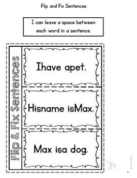 Editing: Interactive Flip and Fix Sentences