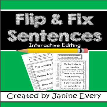Editing: Interactive Flip and Fix Sentences