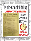 Essay Writing Editing Foldable (final papers, term papers)
