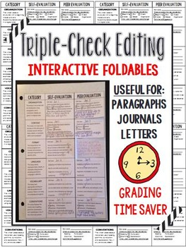 Interactive Editing Foldable - Written Forms (paragraph, journal, letter, etc.)