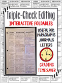 Interactive Editing Foldable - Written Forms (paragraph, j