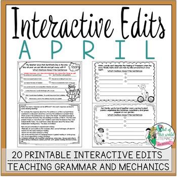Interactive Edits: April