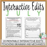 Interactive Edits: July