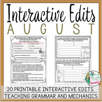 Interactive Edits: August