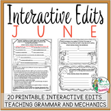 Interactive Edits: June