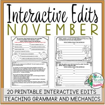 Interactive Edits: November