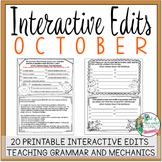 Interactive Edits: October