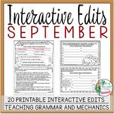 Interactive Edits: September