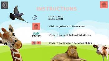 Interactive Educational Software Animals