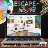 Elements of Art Digital Escape Room: Visual Art Digital Es