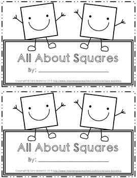 Emergent Easy Interactive Reader Book: Shapes: Square