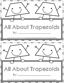 Emergent Easy Interactive Reader Book: Shapes: Trapezoid