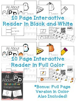 Interactive Emergent Reader: All About P
