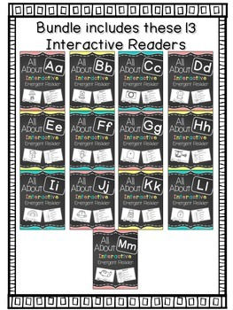 Interactive Emergent Readers: A-M