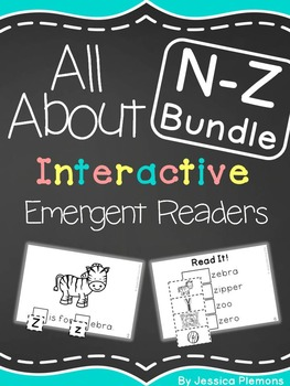 Interactive Emergent Reader BUNDLE: N-Z